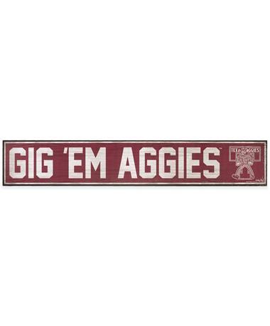 Texas A&M Gig 'Em Aggies Wooden Sign