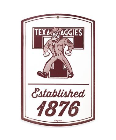 Texas A&M Ol' Sarge Est. 1876 Wooden Sign
