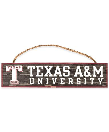 Texas A&M University Wooden Rope Sign
