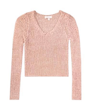 She + Sky Long Sleeve Knit Cropped Sweater