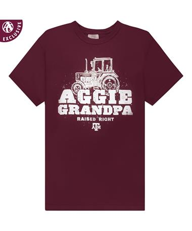 Texas A&M Tractor Grandpa T-Shirt