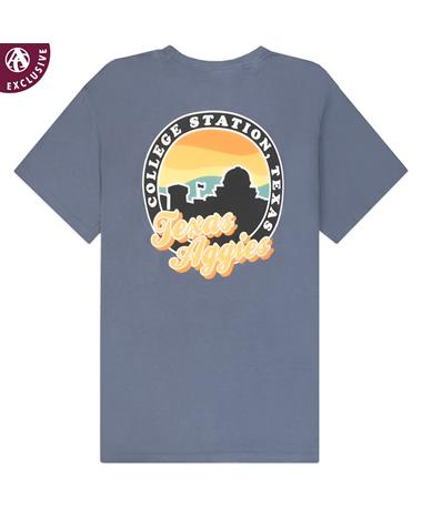 Texas Aggies Skyline Circle T-Shirt