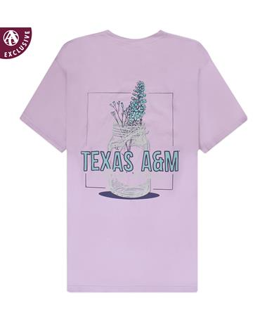 Texas A&M Flower Mason Jar T-Shirt