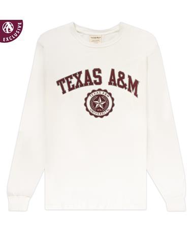 Texas A&M White Seal Long Sleeve Tee