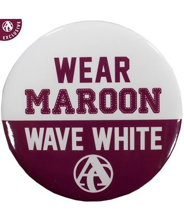 Wear Maroon Wave White Button