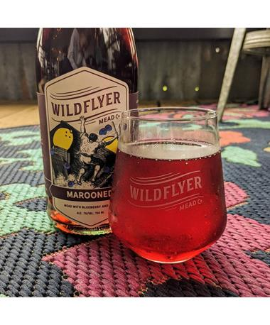 IN STORE PICKUP OR LOCAL DELIVERY ONLY: Wildflyer Mead Marooned Blueberry Lemon Mead