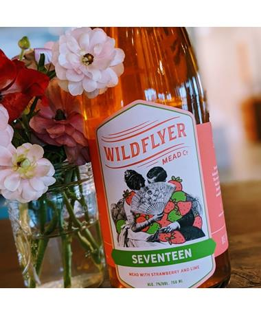 IN STORE PICKUP OR LOCAL DELIVERY ONLY: Wildflyer Mead Seventeen Strawberry Lime Mead