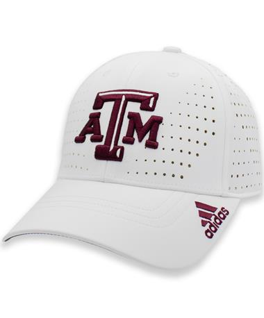 Texas A&M Adidas Structured Adjustable Laser Perf Cap