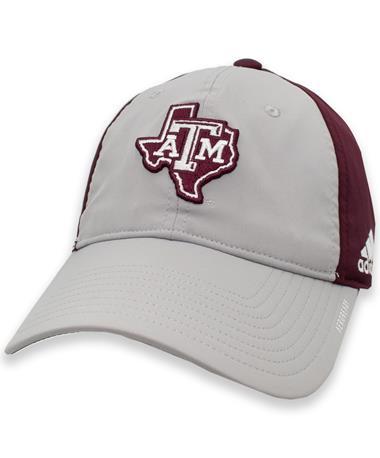 Texas A&M Adidas Maroon and Grey Lonestar Coach Slouch Flex Hat