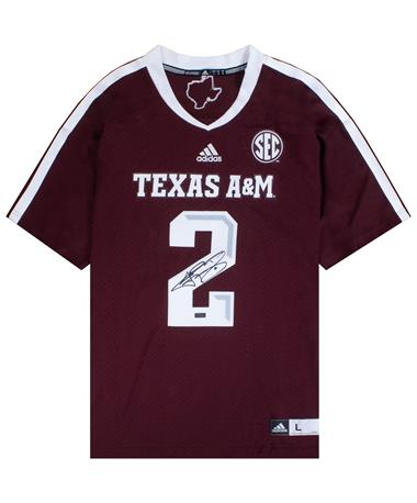 Texas A&M Johnny Manziel #2 Signed Jersey