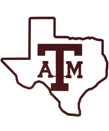 Texas A&M Lone Star Outline Sign