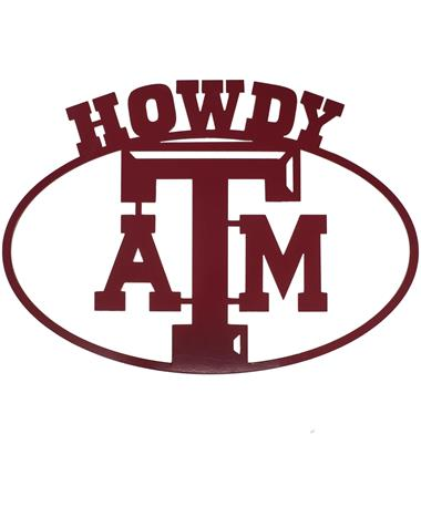 Texas A&M Howdy Oval Sign
