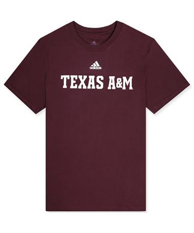Texas A&M Adidas Basic Maroon T-shirt
