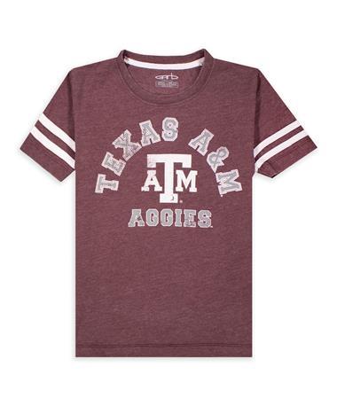 Texas A&M Garb Maroon Cal Youth Burnout Tee