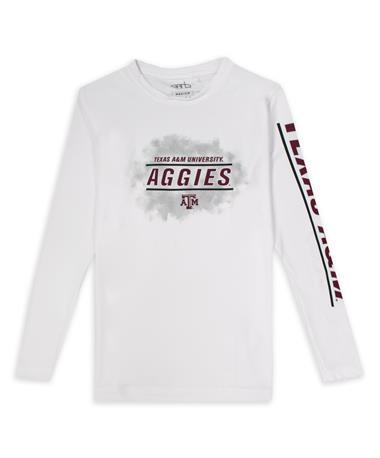 Texas A&M Aggies White Garb Jessie Youth L/S Tee