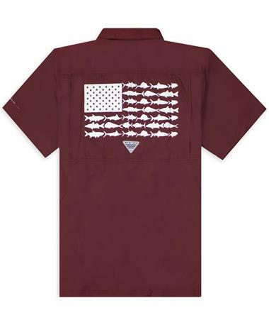 Texas A&M Columbia Slack Tide Camp Shirt