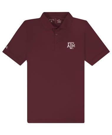 Texas A&M Antigua Legacy Pique Polo