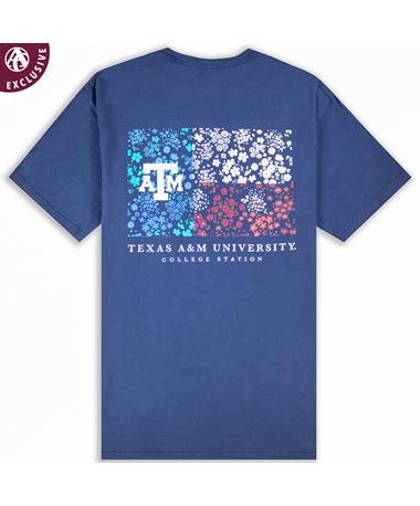 Texas A&M Red White Blue Floral