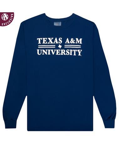 Texas A&M Double Bar Long Sleeve Tee