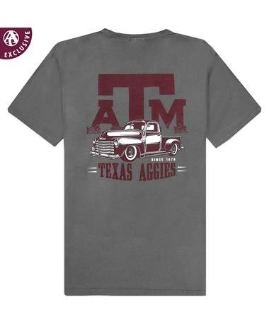 Texas A&M Old School Truck T-Shirt