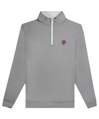 Texas A&M Johnnie-O Diaz 1/4 Grey Zip Jacket