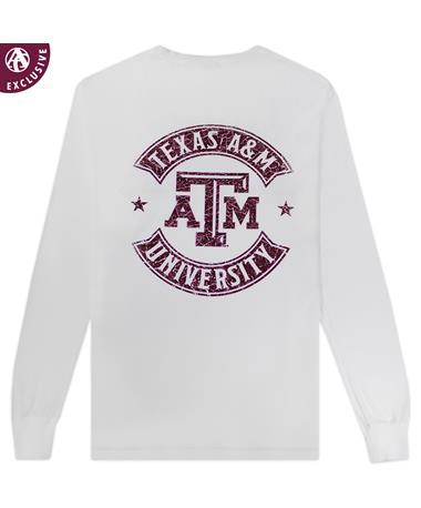 Texas A&M Gig 'Em Star White Long Sleeve T-Shirt