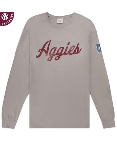 Aggies Texas Flag Long sleeve T-Shirt