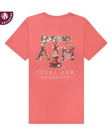 Texas A&M University Floral Filled Block T-Shirt