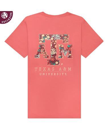 Texas A&M University Floral Filled Block T-Shirt