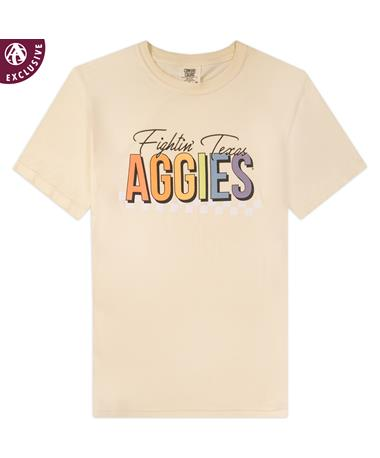 Texas A&M Rainbow Check T-Shirt
