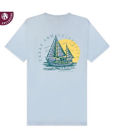 Texas A&M Sunset Boat T-Shirt