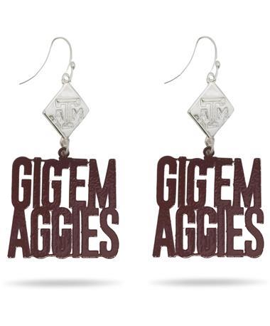 Gig 'Em Aggies Earrings