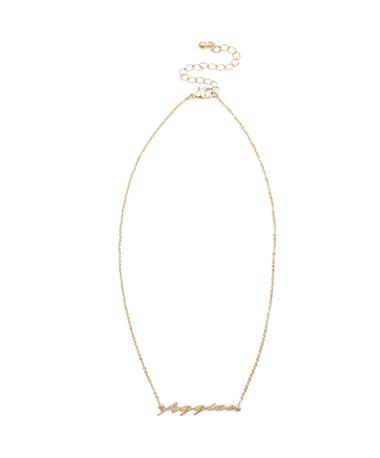 Aggies Script Gold Necklace