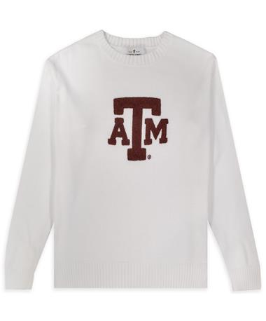 Texas A&M White Darby Sweater