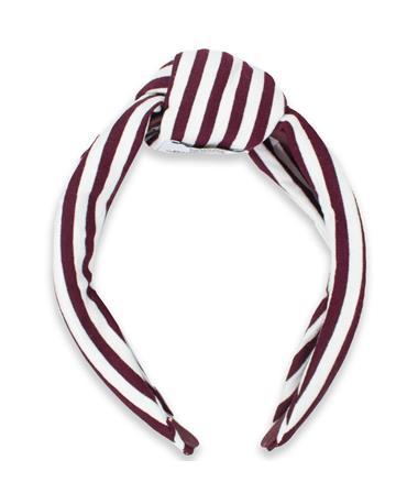 Texas A&M Maroon & White Striped Headband
