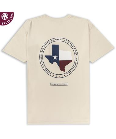 Texas A&M Spirit Texas Flag T-Shirt