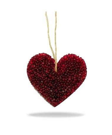 Maroon Heart Volcano Bead Air Freshener