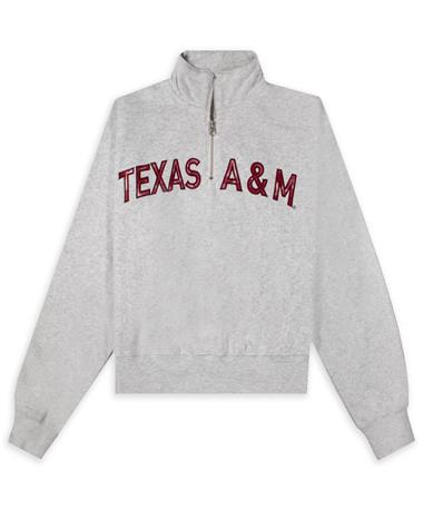 Texas A&M ZooZatz Tie Dye Applique Cropped Quarter Zip