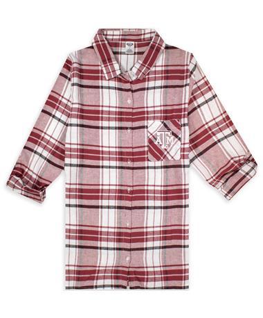 Texas A&M Women's Flannel Nightshirt