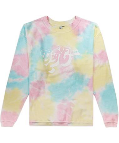 Texas A&M Rainbow Tie Dye Corded Crew Sweatshirt