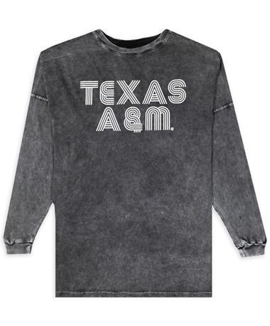 Texas A&M Long Sleeve Marbled Black Shirt