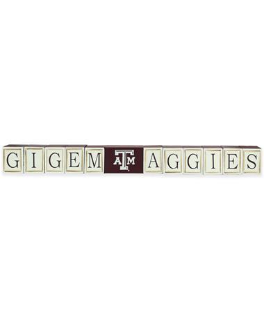 Texas A&M Gig Em Aggies Block Set