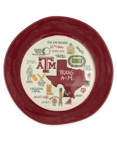 "Texas A&M 13.5"" Plastic Collage Bowl"