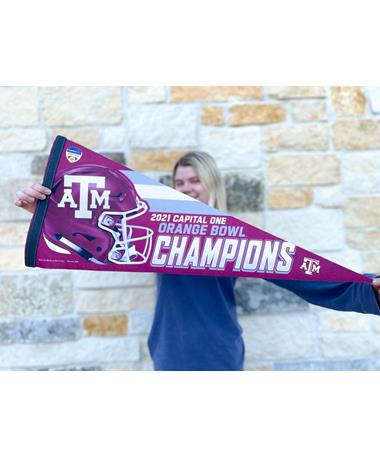Texas A&M 2021 Orange Bowl Champions Pennant