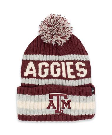 Texas A&M Aggies '47 Brand Maroon & White Knit Beanie