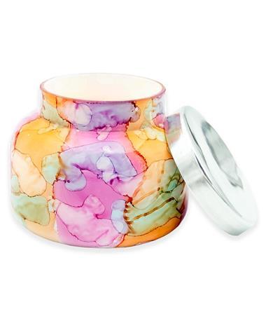 Capri Blue Volcano Rainbow Watercolor Candle
