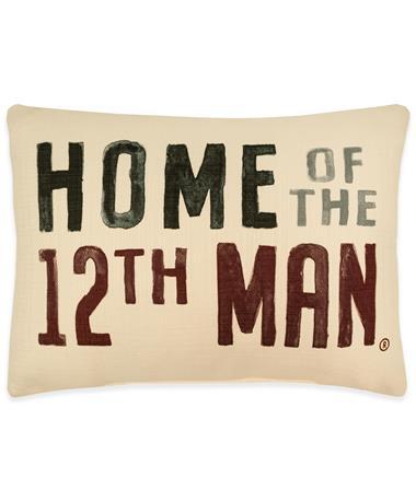 Texas A&M Home of 12th Man Pillow