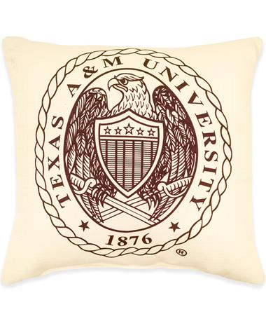 Texas A&M Crest Pillow