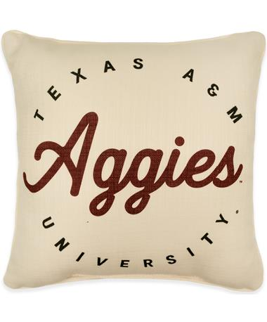 Texas A&M Aggies Circle Plaid Back Pillow