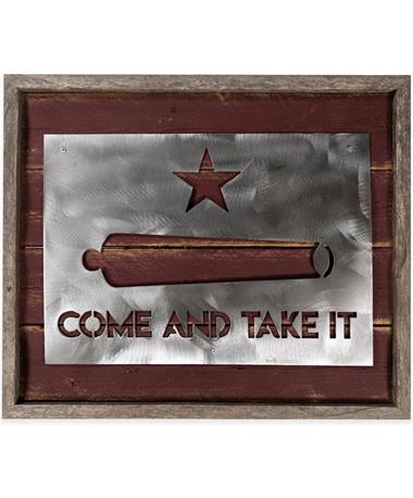 Maroon Come & Take it Sign